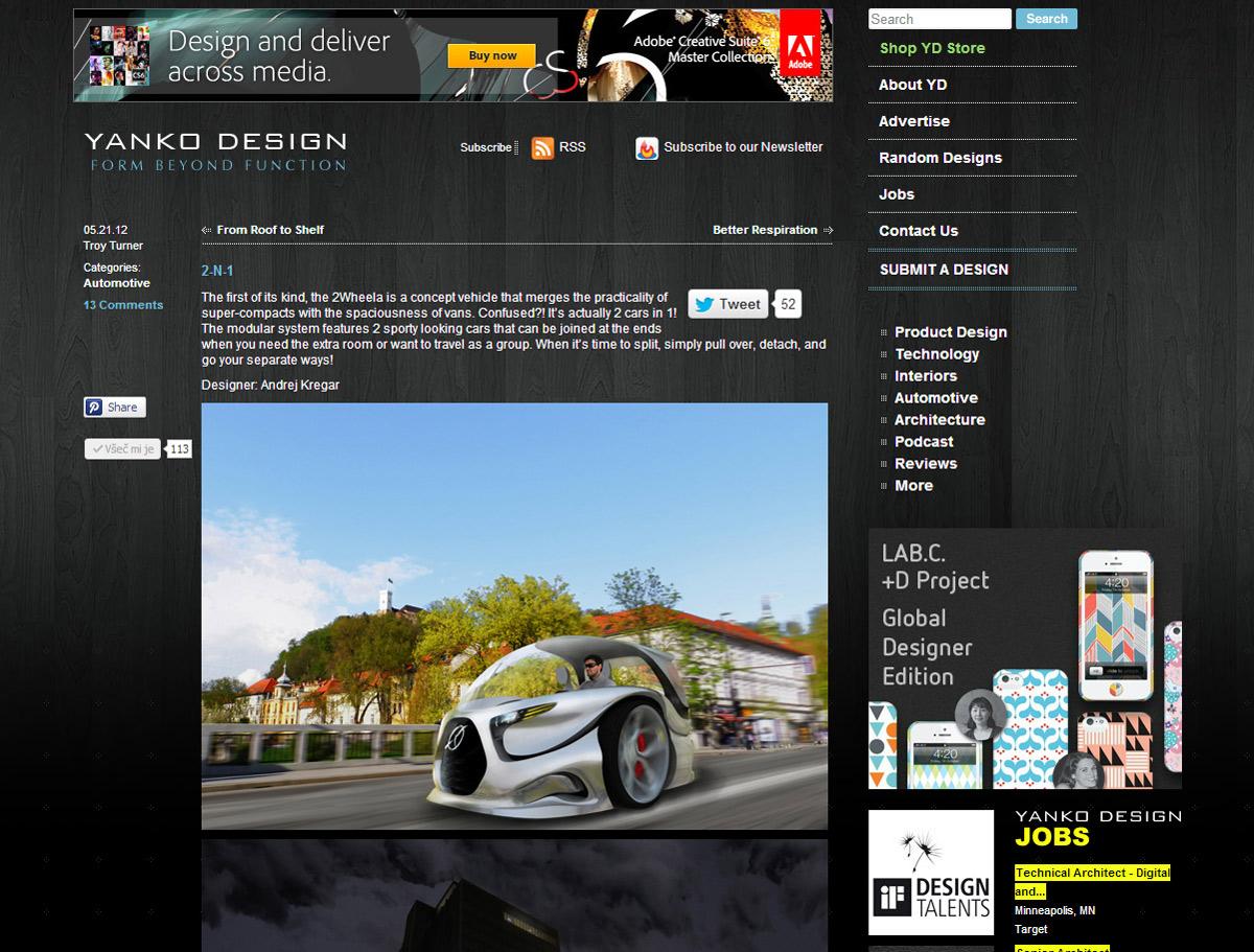 2wheela objava v Yanko design