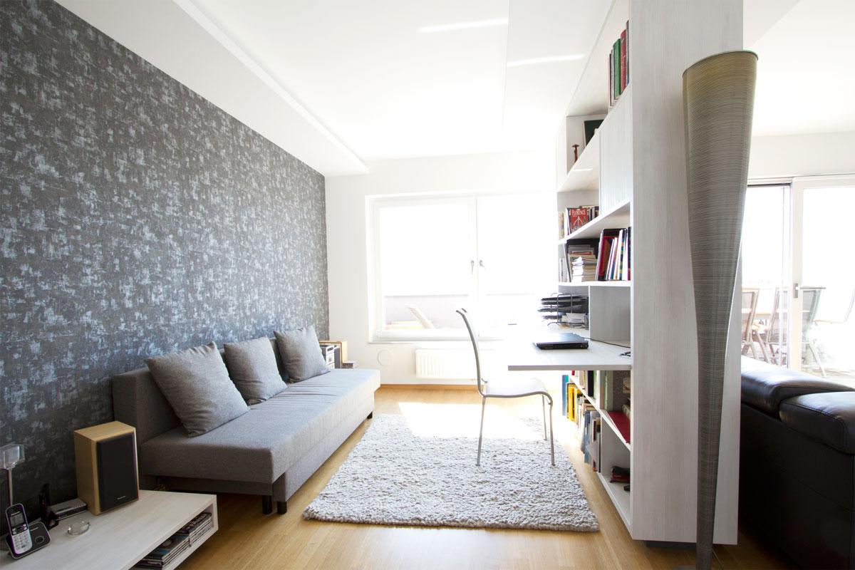 Modern living room in duplex in Ljubljana