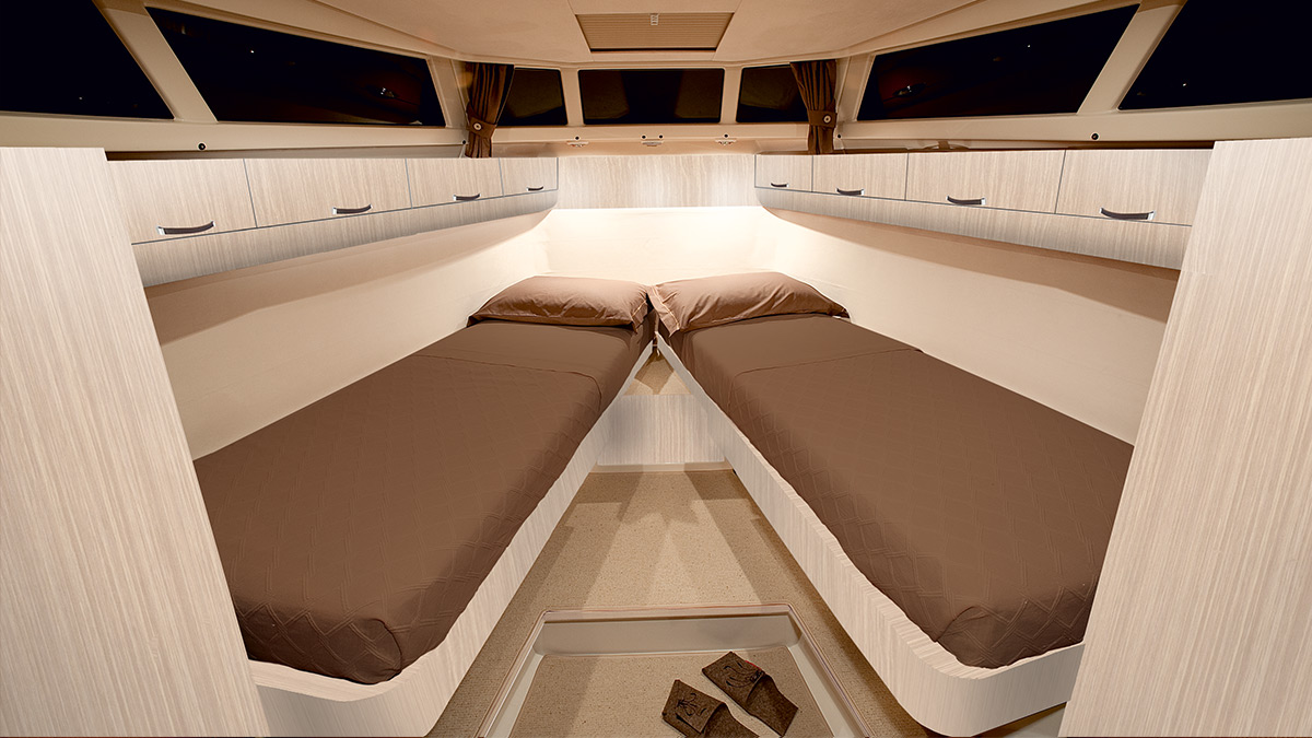 renovated yacht bedrrom for two people