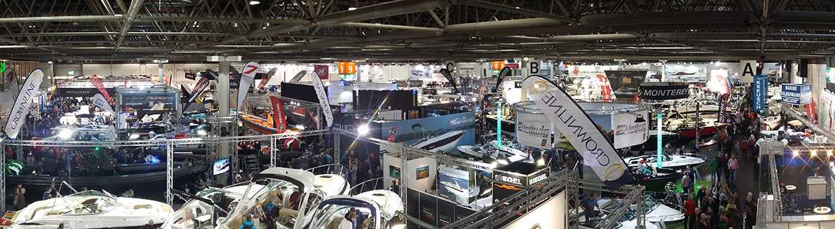 Panorama of yacht show Boot
