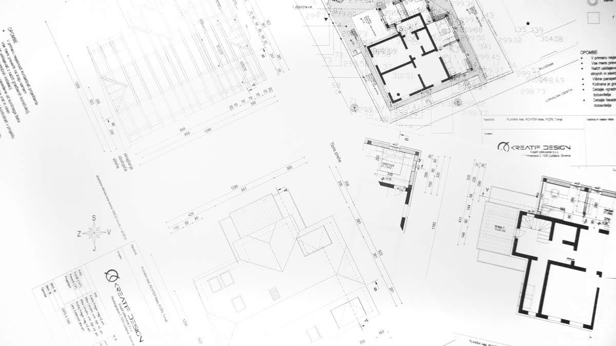 načrti za pridobobitev gradbenega dovoljenja