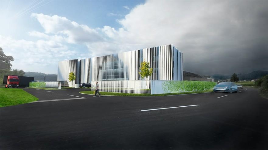 Vizualizacija: moderno oblikovana poslovna stavba