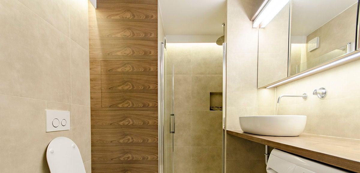 notranje oblikovanje na ključ - kopalnica