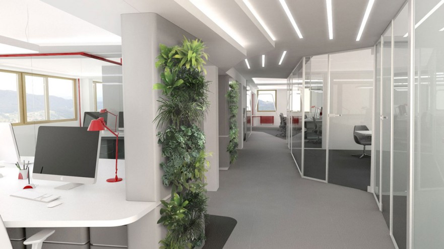Vizualizacija: idejna zasnova poslovnih prostorov