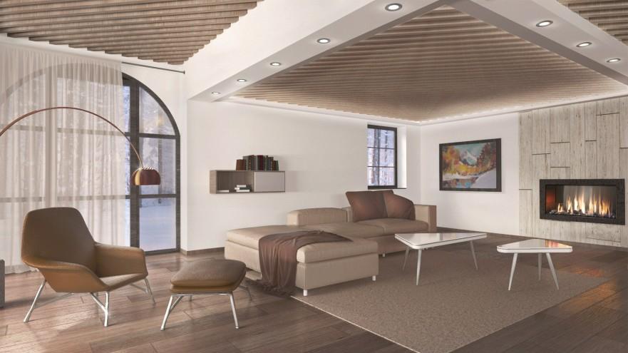 Visualization: interior design of living room