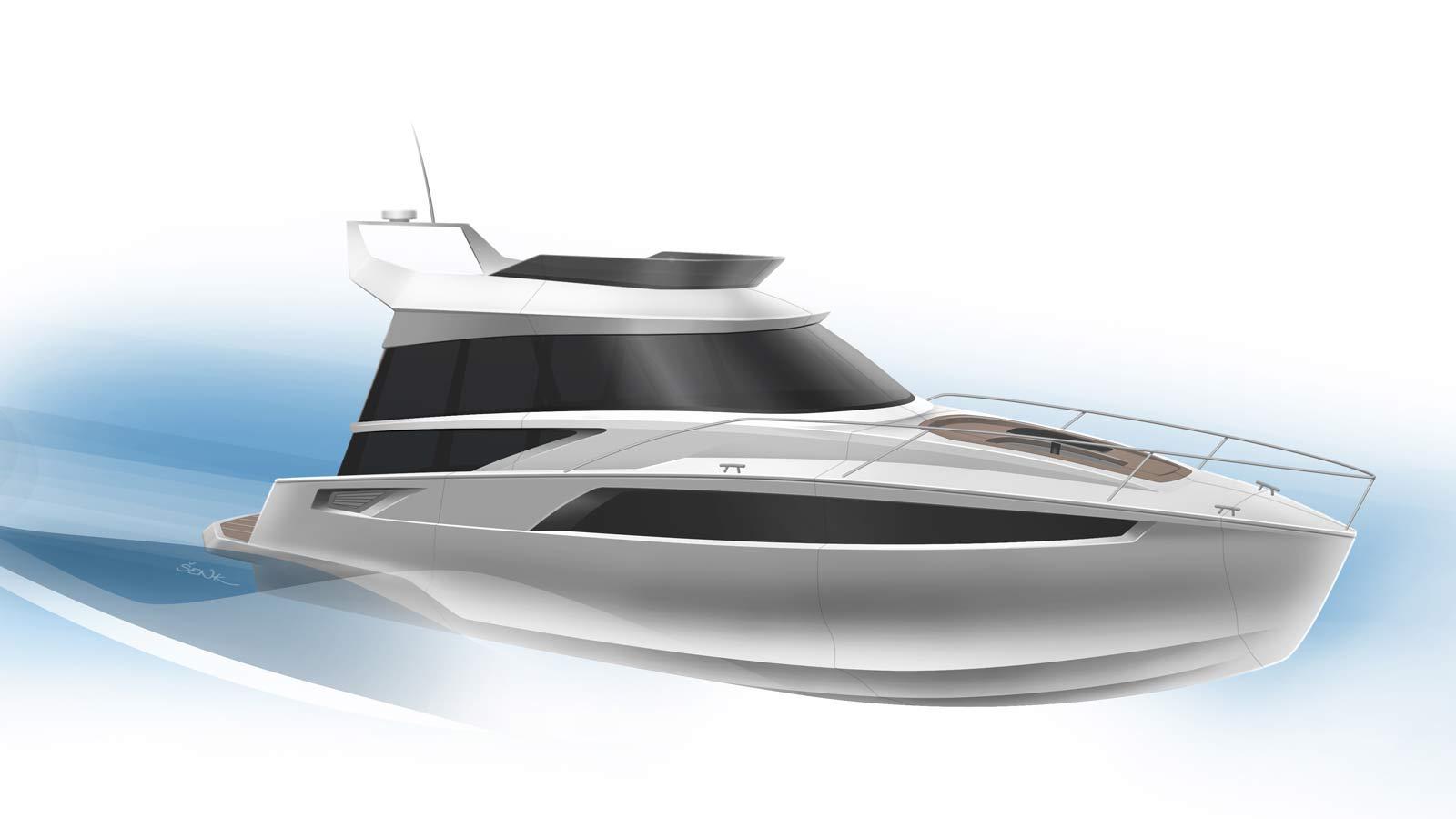 Yacht desgin sketch