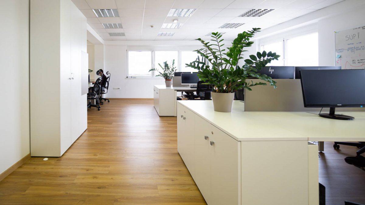 Spacious Trilogic white office