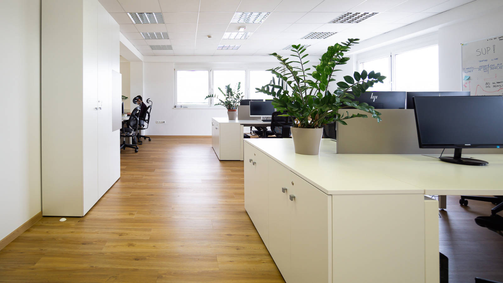 Spacious Trilogic white office