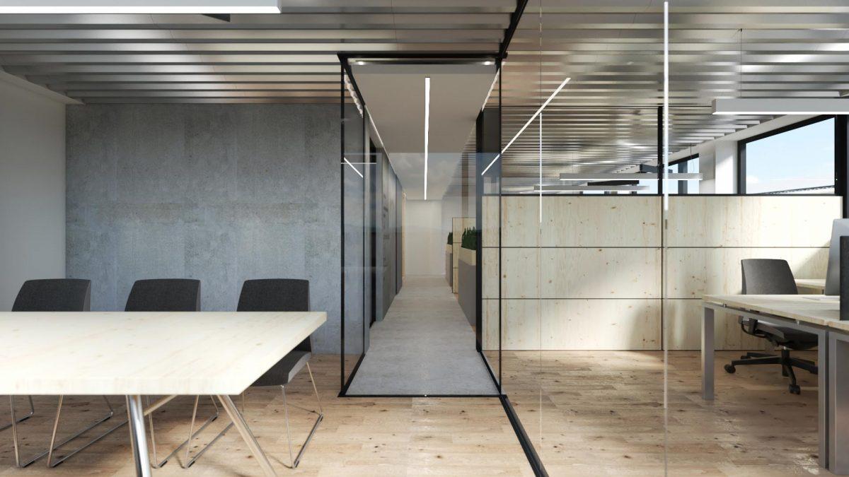 Render of modern designed offices