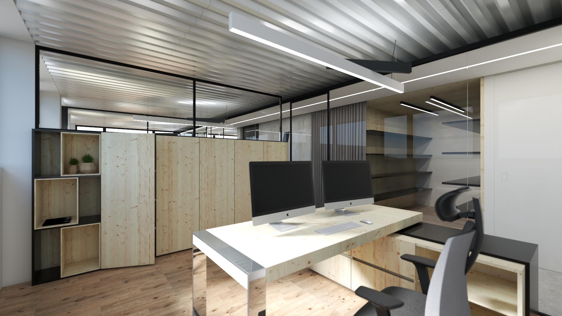 Vizualizacija moderno oblikovane pisarne