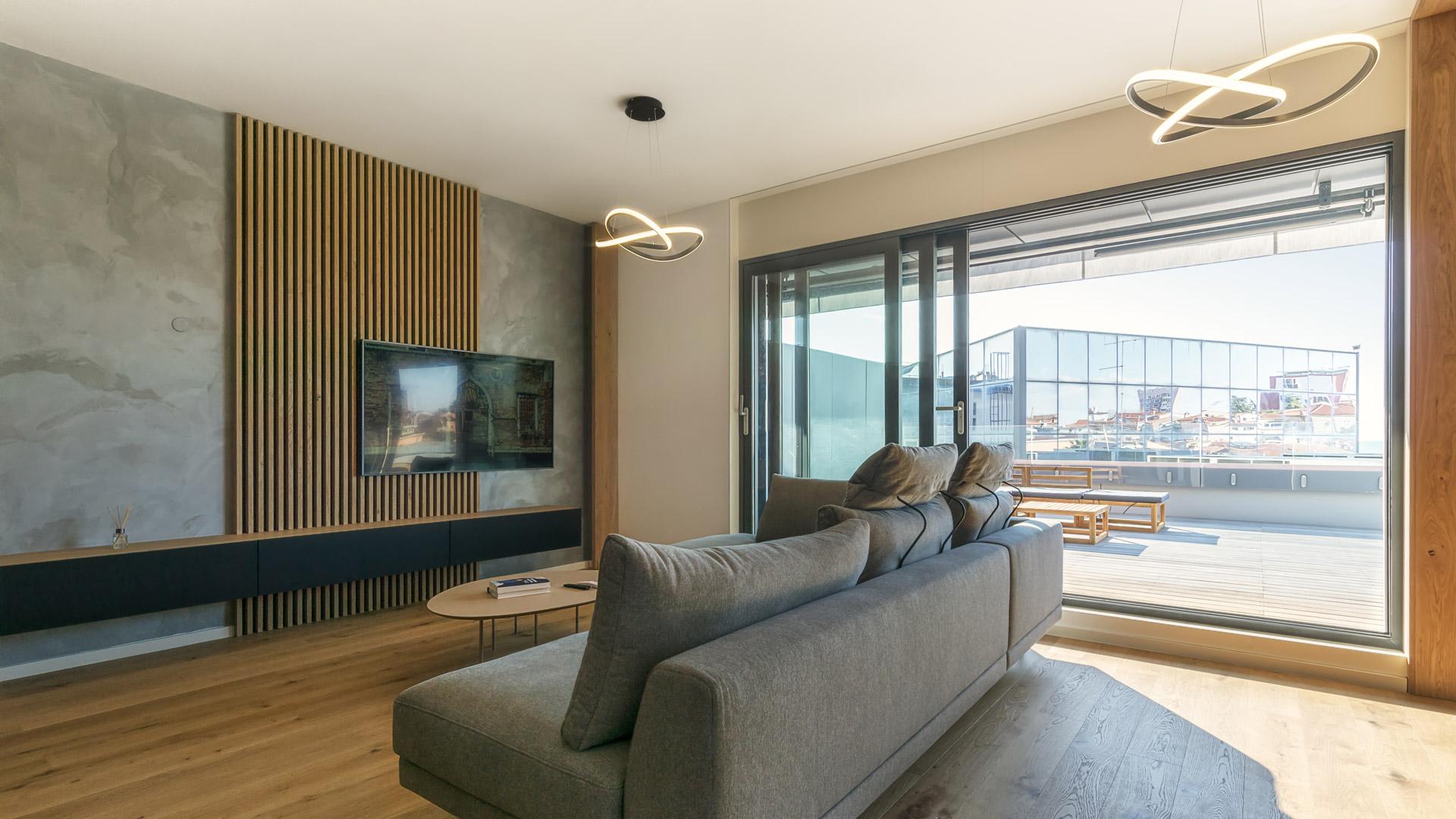 Contemporary designed living room